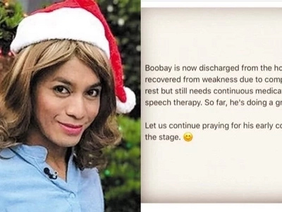 That is a great news! Comedian Boobay is finally left the hospital