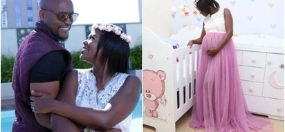 Grace Msalame's baby daddy and his heavily pregnant wife warm up for their upcoming baby, and TUKO.co.ke has the photos