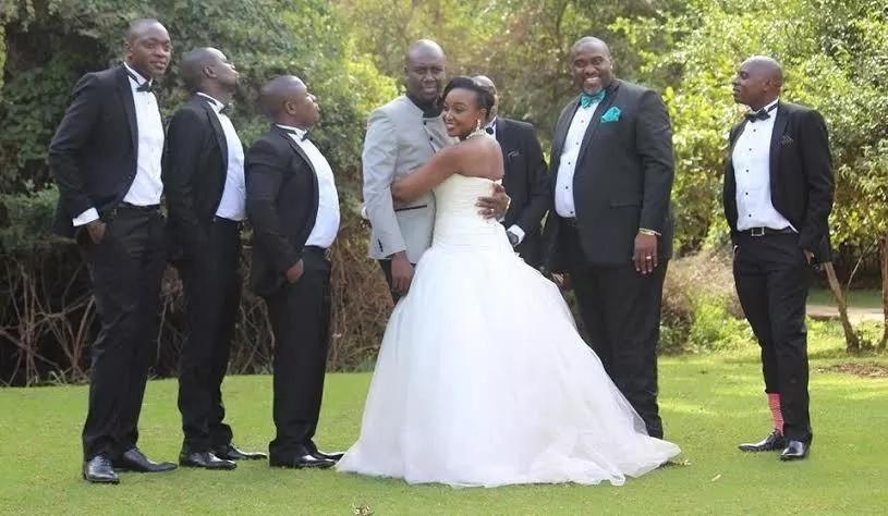 NTV's Dennis Okari returns favour to Ken Mijungu and these 2 wedding photos prove the point