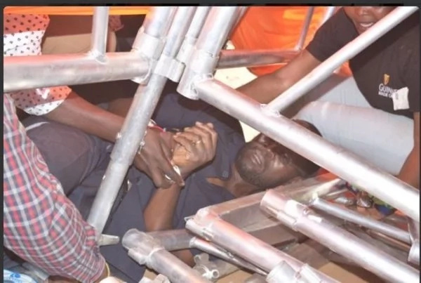 Anyang Nyong'o cheats death in Migori (photo)