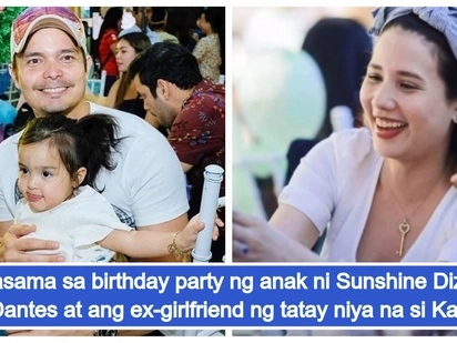 Awkward ba? Dingdong Dantes and daughter Zia in the same birthday party as his ex-girlfriend Karylle