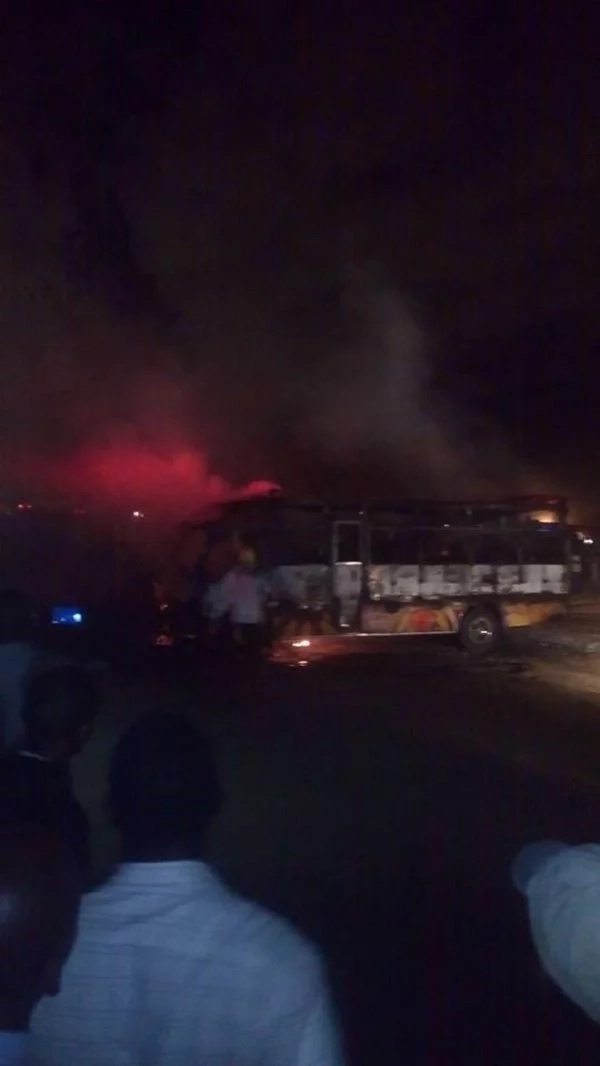 Ummoinner bus set ablaze after killing motorbike operator