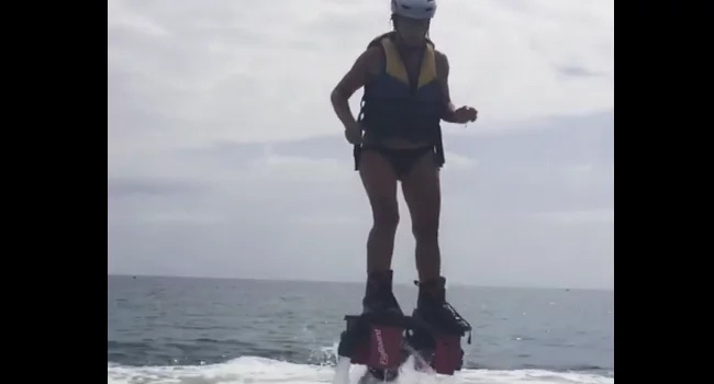 She is so gorgeous while flyboarding!