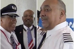 Black pilot, 64, retires after 37 years in airline, his sendoff celebration was truly inspiring (photos)