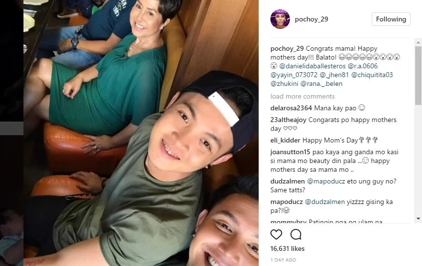 Paolo Ballesteros Posted a Photo on Instagram With his Partner and Mom