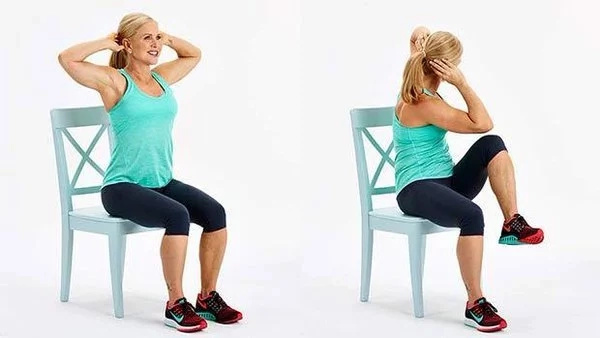 Solo con una silla, haciendo esto rebajé toda la barriga y eliminé la grasa de mi abdomen