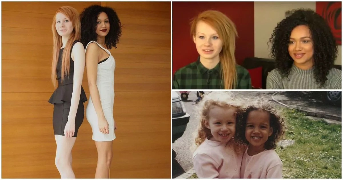 Meet stunning 20-year-old twin sisters who have different skin colours (photos, video)