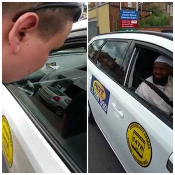 Wahala! Muslim driver refuses to carry a blind man because his DOG does not support Islam (video)