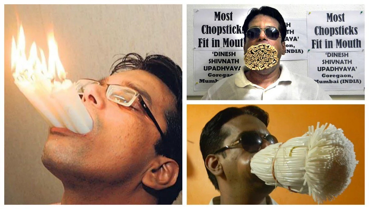 Man Stuffs 1001 Straws Into His Mouth To Break World Record (photos, video)