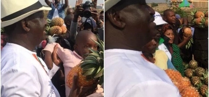 Revealed: The sweet thing Raila Odinga was doing just before being heckled in Thika