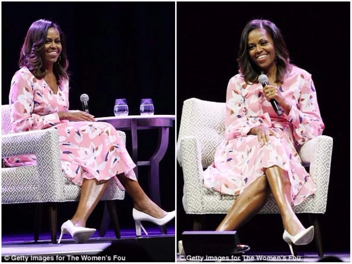 Michelle remains popular and received a prolonged standing ovation at the event. Photos: Getty Images