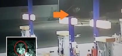 Revisaron el video de seguridad de esta gasolinera y lo que vieron los dejó helados de miedo