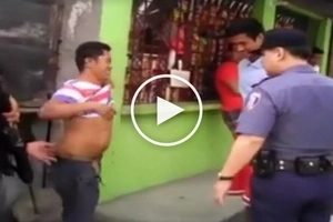 Shocked Pinoy netizens accuse bossy cops of bullying poor citizens while conducting Oplan Galugad