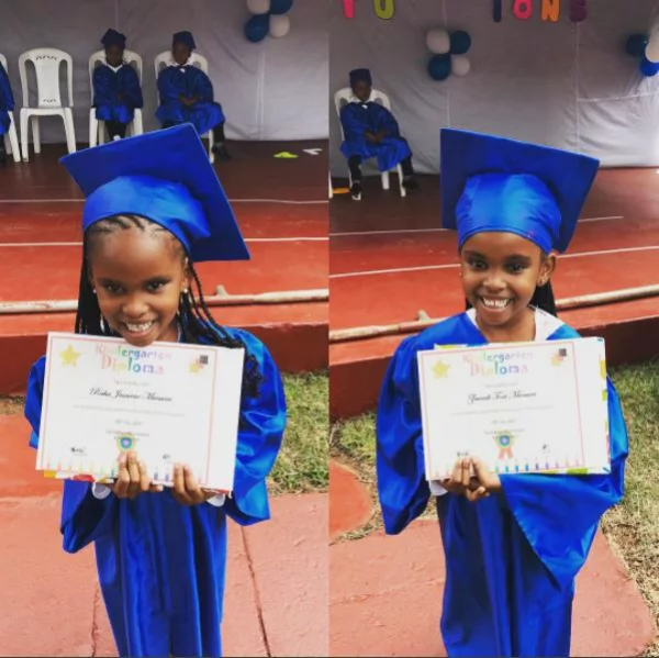 Wife of Grace Msalame's baby daddy attends her twins graduation and it's perfect (photos)