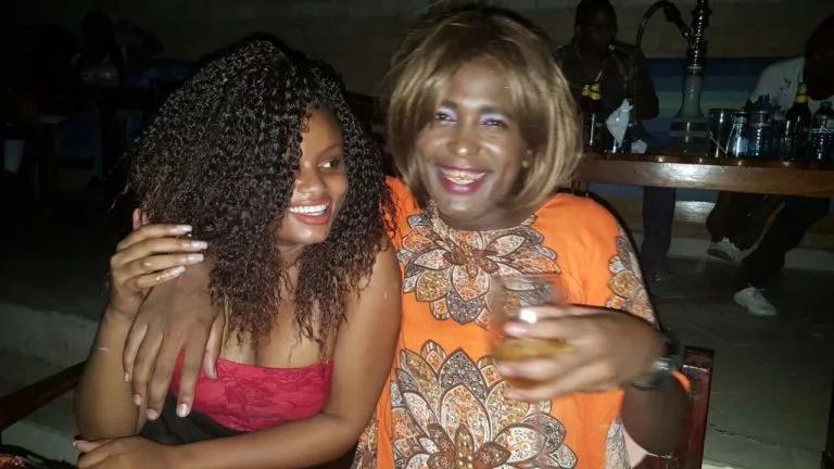Kenyan actress caught on camera kissing a popular blogger