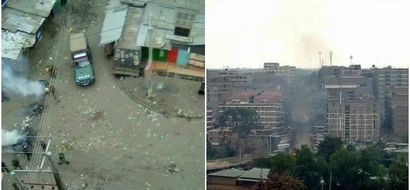 Mathare youth protest after elections rigging claims