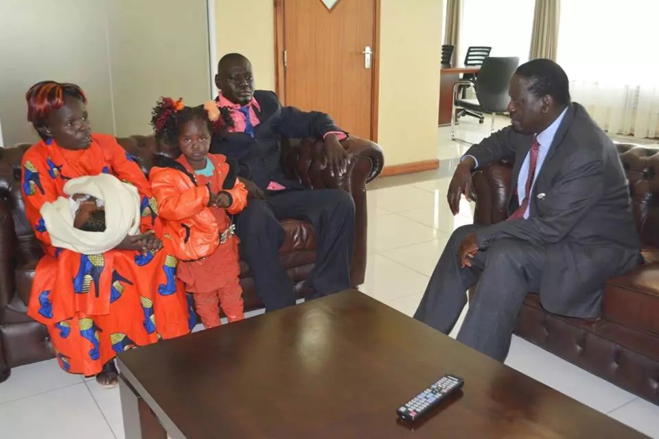 Raila Odinga hosts girl named after his wife