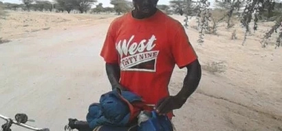 Bungoma man cycles non-stop for one day and three hours to Lodwar (photos)