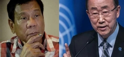 Duterte declines meeting Ban Ki-Moon - AFRAID to face UN Secretary General?