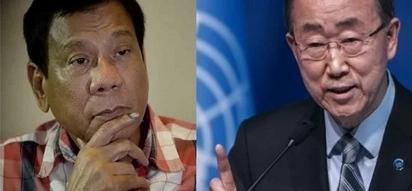 Duterte declines meeting Ban Ki-Moon - AFRAID to face UN Secretary General?