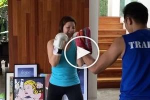 Ogie Alcasid supporting Regine Velasquez through exercising is perfect