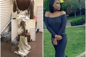 Mom badly humiliates tailor for making daughter disastrous Ksh3000 prom dress (photos)