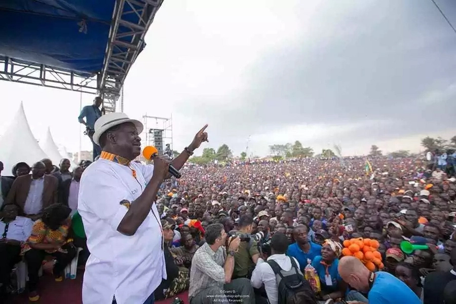 There will be no business as usual until a democratically elected President assumes office - Raila Odinga warns