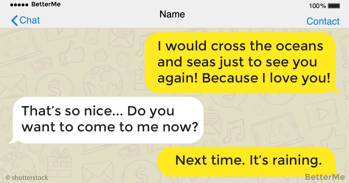 13 funny texts from the masters of flirting