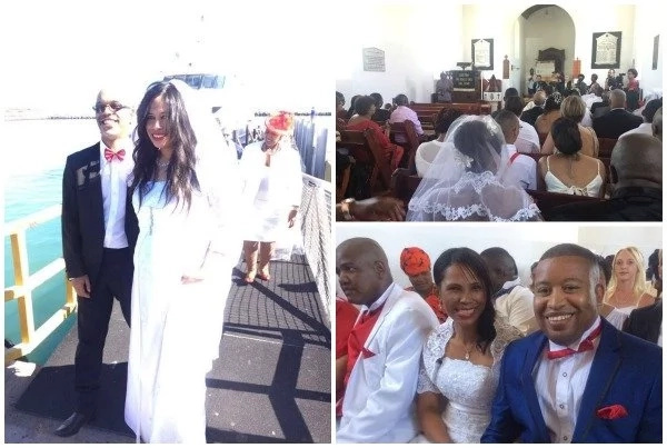 Madly in love! See 20 couples tie the knot in MASS WEDDING on Valentine's Day (photos, video)