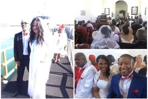 I do! 20 couples make the vow on Valentine's Day at Robben Island in MASS wedding