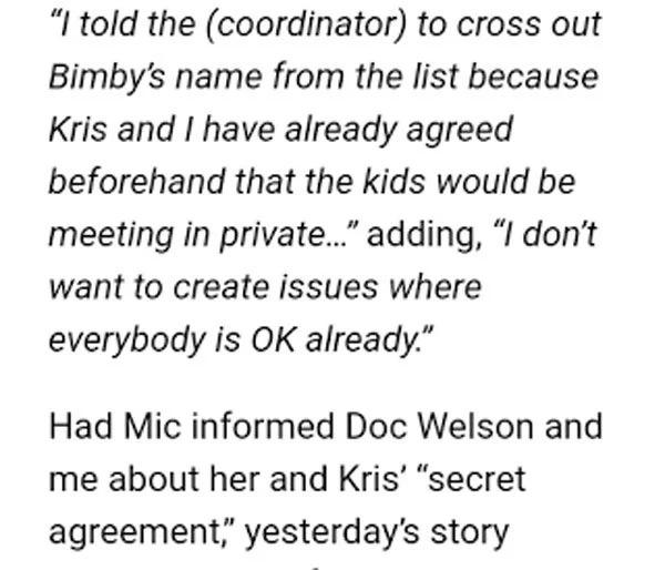 Ricky Lo publicizes response to both Kris Aquino and Michella Cazzola