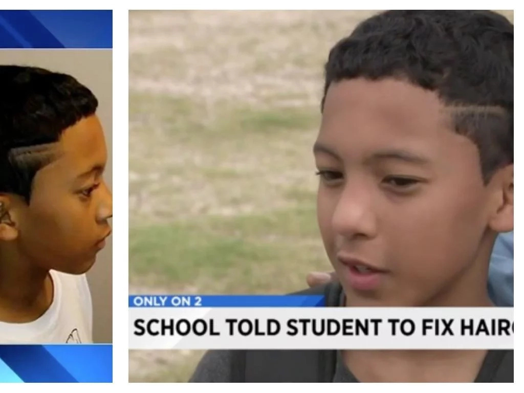 Forbidden haircut! 6th grader suspended from school because of his HAIRCUT(photos)