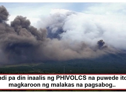 PHIVOLCS raises alert level 3 for Mayon Volcano