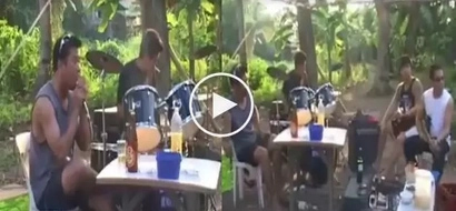 Lupet neto tol! Pinoy band performs powerful songs in the middle of a forest