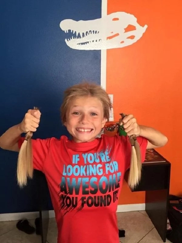 Ready to donate hair