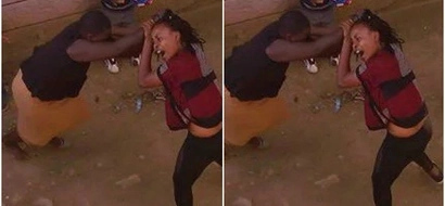 Wife attacks mpango wa kando after recognising her while walking in Kasarani (Photos)