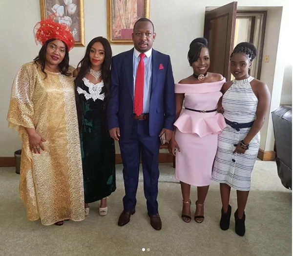 Mike Sonko's beautiful family dazzles at Uhuru Kenyatta's inauguration