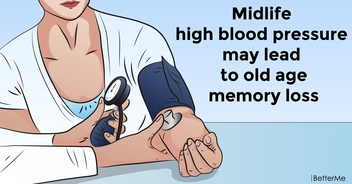 Midlife high blood pressure may lead to old age memory loss