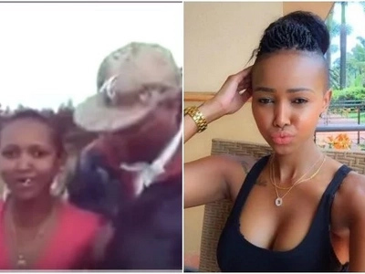 Never seen before video of a toothless Huddah Monroe before the fame