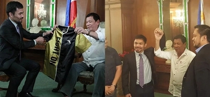 Pati si Digong proud din! Duterte warmly welcomes Pacquiao after his recent achievement