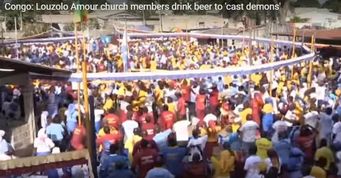 Shock as congregants flock an African church that serves BEER, claim it casts away demons