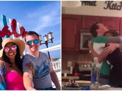Heartwarming! Watch emotional moment wife tells husband she's pregnant after 2 years of trying
