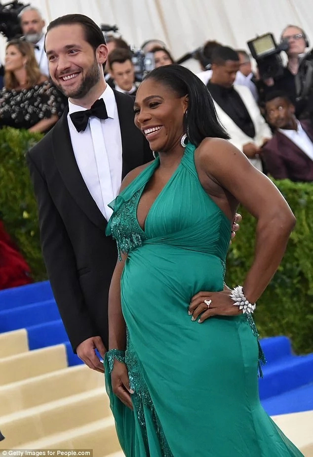 Serena pictured with her fiancé Alexis Ohanian. Photo: Getty Images