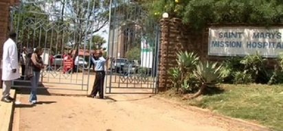 Tension rises as nuns and American missionary fight over St Mary's Hospial, heavy police presensce noted