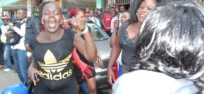Drama as 4 PROSTITUTES corner a man who refused to pay after EATING them ALL NIGHT LONG (Video)