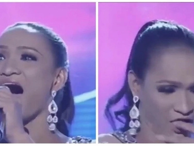 Binalik pa talaga eh! It's Showtime's 'Miss Q and A' contestant just had a major face palm moment after her dentures fell off during her introduction