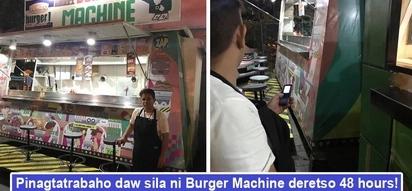 Mga walang-puso! Burger Machine binatikos ng netizens dahil pinagtatrabaho diumano mga empleyado ng 48 hours deretso walang tulugan