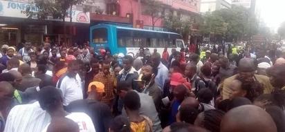 Ajali katikati mwa jiji la NAIROBI; alichokifanya dereva ni cha kushangaza