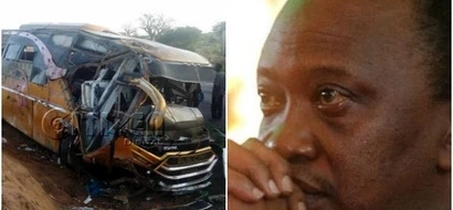 Uhuru mourns the 26 Kenyans who perished on the terrible Mtito Andei accident
