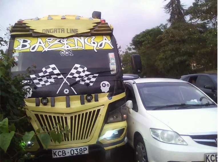 Ongata Rongai matatu driver clobbered for almost killing children